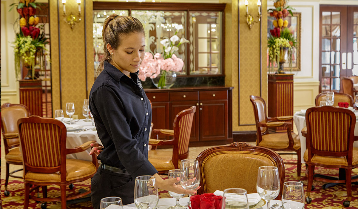 The Palace Royale waitress
